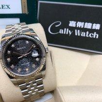 Rolex Cally - 116234 Datejust Black Jubilee Diamond Dial 36mm Jub