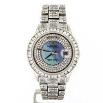 Rolex Day Date Ref 18206 Platinum President 35ct Full Diamond