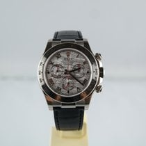 Rolex Daytona Cosmograph Weißgold Meteorite-Dial Lederband