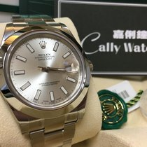 Rolex Cally - 116300 41mm Datejust II Silver Index Dial [NEW]