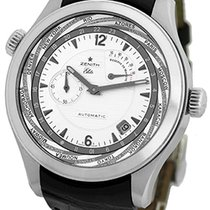 Zenith Grande Class Traveler Multicity World Timer Strapwatch.