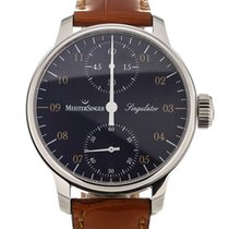 Meistersinger Singulator 43 Manual Blue Dial