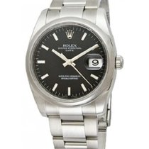 Rolex Datejust Men's 36mm Black Dial Stainless Steel Bracelet