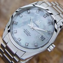 Omega Seamaster Aqua Terra Co Axial Chronometer Diamond Dial...