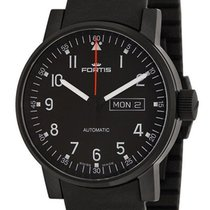 Fortis Spacematic Pilot Professional Mens Strap Watch Day Date...