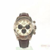 Rolex Cosmograph Daytona 18 kt Weißgold / Leder 116519 aus 2006