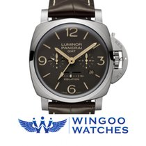 パネライ (Panerai) LUMINOR 1950 EQUATION OF TIME 8 DAYS GMT TITANIO