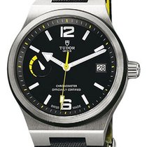 Tudor North Flag 91210N Black Yellow Arabic & Index...