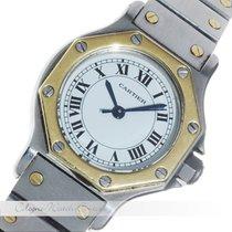 Cartier Santos Octagon Stahl / Gold Automatik