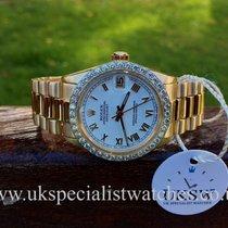 Rolex Datejust 18ct Gold – 31mm – Factory Diamond Bezel – 6828/8