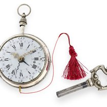 Le Roy Pocketwatch: rare silver coach clock with 3 complicatio...