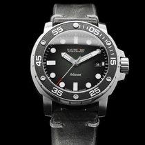 Nauticfish Thûsunt zwarz vintage w/ Leather Strap
