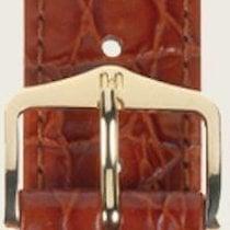 Hirsch Uhrenarmband Leder Crocograin goldbraun M 12302870-1-14...