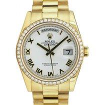 勞力士 (Rolex) Day-Date 36 118348-WHTRP White Roman Diamond Bezel...