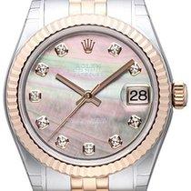Rolex Datejust 31 Edelstahl Roségold Everose Jubilé Perlmutt...