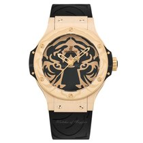 Hublot Big Bang Black Jaguar White Tiger Foundation Gold