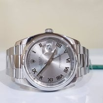 Rolex Datejust 36mm roman argentè - RRR - year 2012 - full set