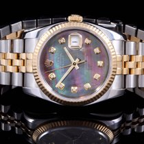 Rolex 116233 Twotone Datejust with Tahitian MOP Diamond Dial