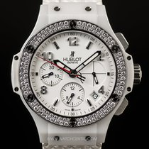휘블로 (Hublot) White Ceramic Diamond Bezel Big Bang Aspen...