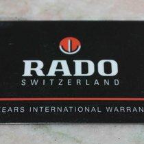 Rado vintage warranty card new never used blanc