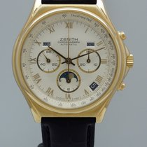 Zenith Chronomaster Vollkalender Moonphase 18k/750 Gold