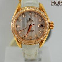 Omega Ladies Aqua Terra co-axial 30MM diamonds red gold