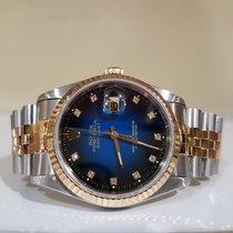 Rolex Datejust 36mm steel/gold blu degradè diamond - paper...