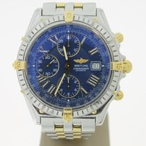 Breitling Crosswind chronograph FULL Steel/Gold BlueDial...