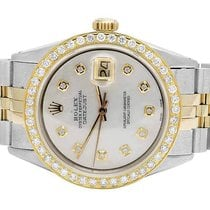 Rolex 18K/ Steel Datejust Two Tone MOP 36MM Quickset 16014...