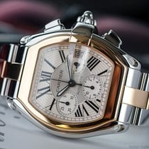 Cartier Roadster Chrono Steel/18k Gold