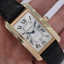 "Cartier Tank Americaine Xl ""jumbo"" 18k Rose Gold W2609856"