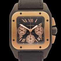 Cartier Santos 100 XL Chronograph Titanium & Rose Gold...