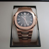 Patek Philippe Nautilus 18K Rose Gold/Brown Dial