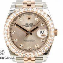 Rolex Datejust Diamonds Stahl Roségold NEU/VERKLEBT Box/Papiere