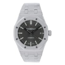 Audemars Piguet Ladies AP Royal Oak 37 Steel Grey Dial