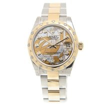 勞力士 (Rolex) Datejust Gold Steel Diamond White Automatic...