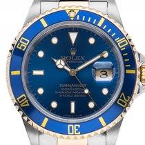 Rolex Submariner Date Stahl Gelbgold Automatik 40mm Vintage...