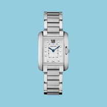 Cartier TANK ANGLAISE 30 Stahl -NEU- incl. VAT Export possible