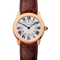 Cartier W6701007 Ronde Solo de Cartier in Rose Gold - on Brown...
