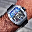 Richard Mille [NEW+RARE] RM 011 Titanium Felipe Massa (Retail:...