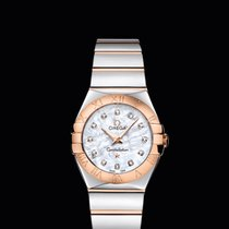 Omega CONSTELLATION QUARTZ 27 MM steel-red gold White Dial T