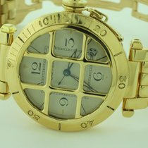 Cartier Pasha 18K Solid Gold Grid Automatic
