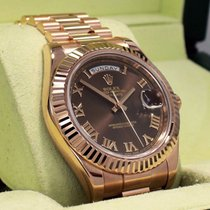 Rolex President Day-date 41mm 218235 18k Rose Gold Chocolate...