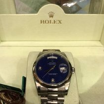 Rolex Day Date 36mm White Gold w/ Rare Lapis Diamond Dial