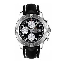 Breitling Colt Chrono Automatic Black Dial Leather Strap...