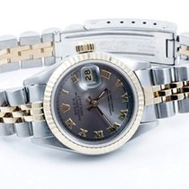 Rolex Ladies 18K/SS Datejust - Slate Roman Numeral Dial - 69173