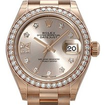 Rolex Lady-Datejust 28 18 kt Everose-Gold 279135 RBR Pink DIA