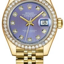 Rolex Lady Datejust 28mm Yellow Gold 279138RBR Lavender...