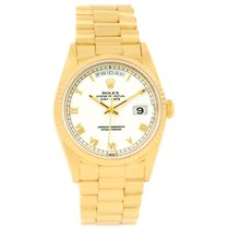 Rolex President Day-date 18k Yellow Gold Mens Watch 18238 Box...