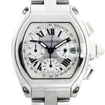 Cartier Roadster Chronograph W62019X6 Stainless Steel Mens Watch